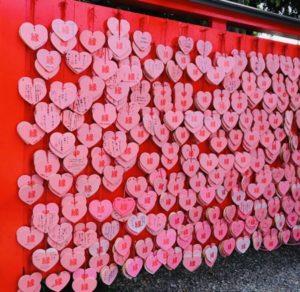 犬山城下町にある三光稲荷神社の「ハート絵馬」が超可愛すぎ!